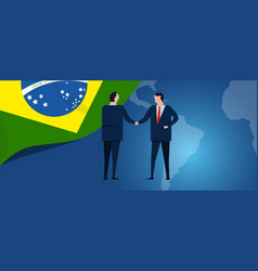 brazil international partnership diplomacy vector image