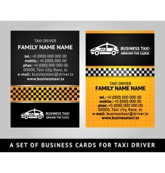 business card - taxi vector image