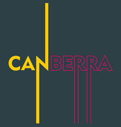 Canberra city name vector