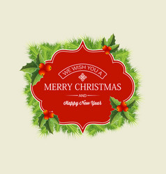 christmas wreath concept vector image