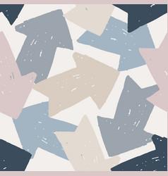 colored arrow seamless pattern cute arrows vector image
