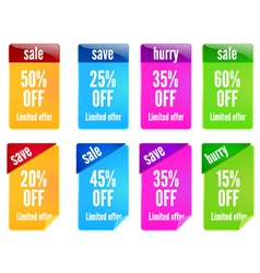 colorful banners set vector image