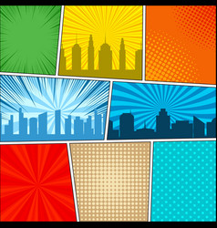 comic book page background vector image