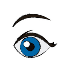 comic eye looking vector image