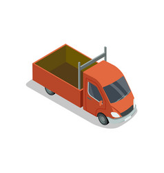 commercial pickup truck isometric 3d element vector image