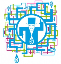 Conceptual picture save the water vector