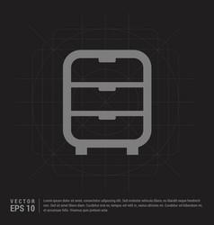Cupboard icon - black creative background vector
