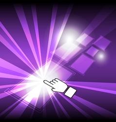 cursor click modern button vector image