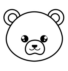 cute and tender bear head character vector image