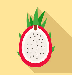 cutted pitaya icon flat style vector image