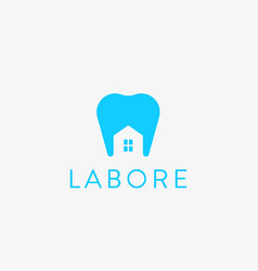 dentist house logo design tooth home creative vector image