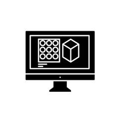 design designing black icon sign on vector image