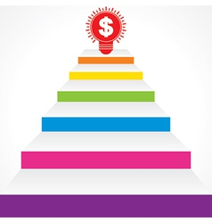 Different stairs required for money stock vector image