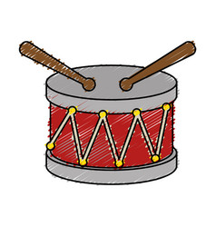 Drum toy musical instrument vector