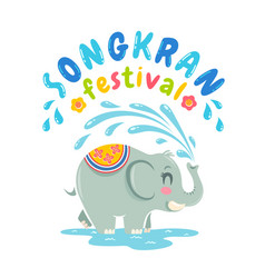 Emblem for songkran water festival vector