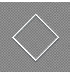 empty border template for design over transparent vector image