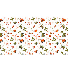 fall theme pattern vector image