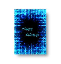 Festive catalog with neon light vector
