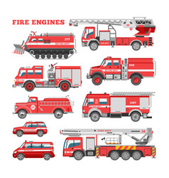Fire engine firefighting emergency vehicle vector