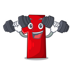 fitness character number one on the platform vector image