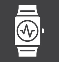 fitness tracker glyph icon fitness and sport vector image