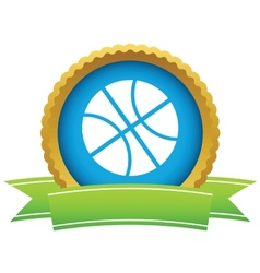 Gold basketball logo vector image