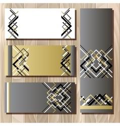 Golden black sale banner template in art deco vector image