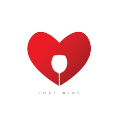 Heart red with wine vector