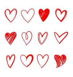 Heart series set vector