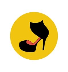 High heels shoes vector image