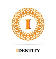 I Letter monogram logo abstract design vector