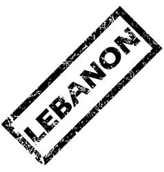 LEBANON rubber stamp vector