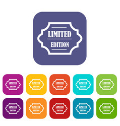 Limited edition icons set vector