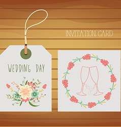 Love design for your wedding day vector image