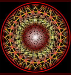 mandala in warm colors for vitality obtaining vector image