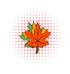 Maple leaves icon comics style vector image