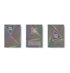 minimal geometric poster set rainbow and grey vector image