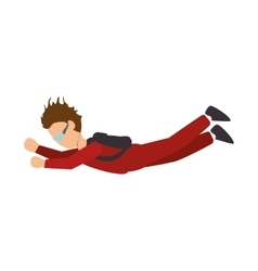 parachutist man falling vector image