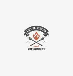quote typography with hand drawn campfire symbol vector image