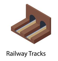 railway tracks vector image