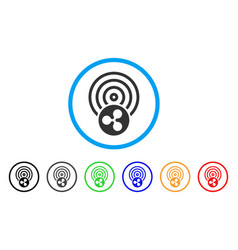 Ripple airdrop rounded icon vector