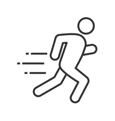 running man linear icon vector image