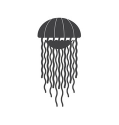 Sea jellyfish icon vector
