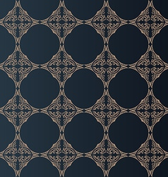 Seamless baroque background in vintage style vector