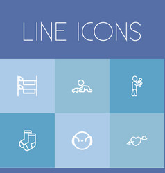set of 6 editable folks icons includes symbols vector image