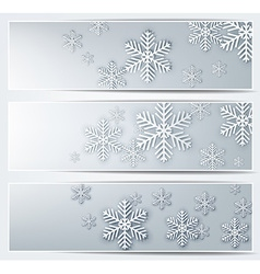 Set of grey christmas banners vector image