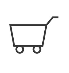 shopping cart online shopping line style icon vector image