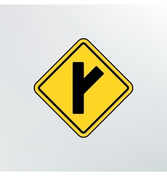 Side Road diagonal icon vector image