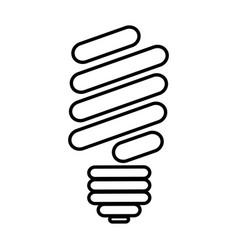 Silhouette of fluorescent light bulb icon vector