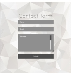 Simple contact us form templates vector